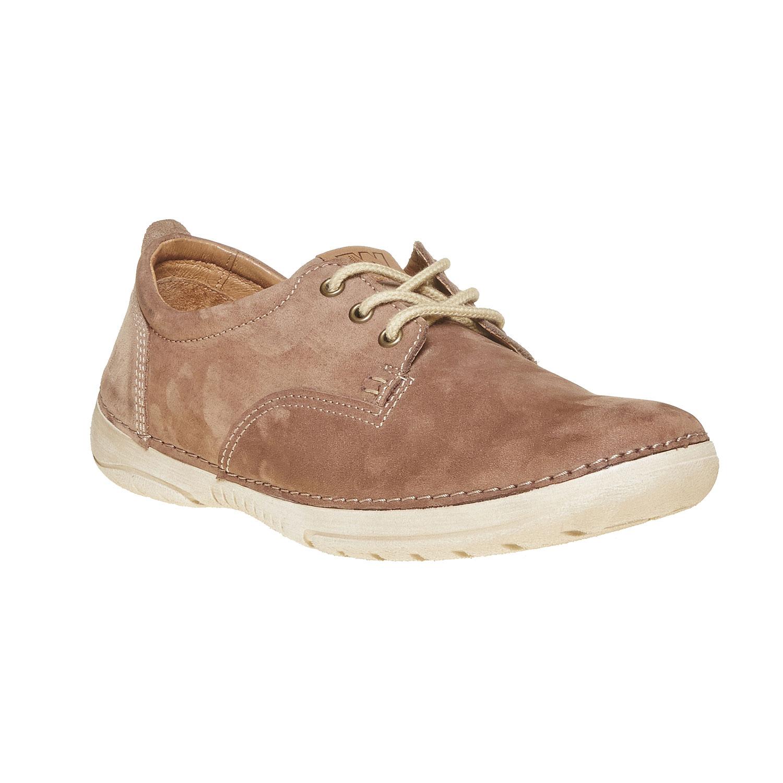 Chaussure lacée décontractée en cuir
