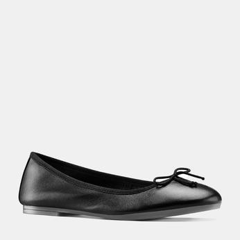 Ballerines en cuir bata, Noir, 524-6144 - 13