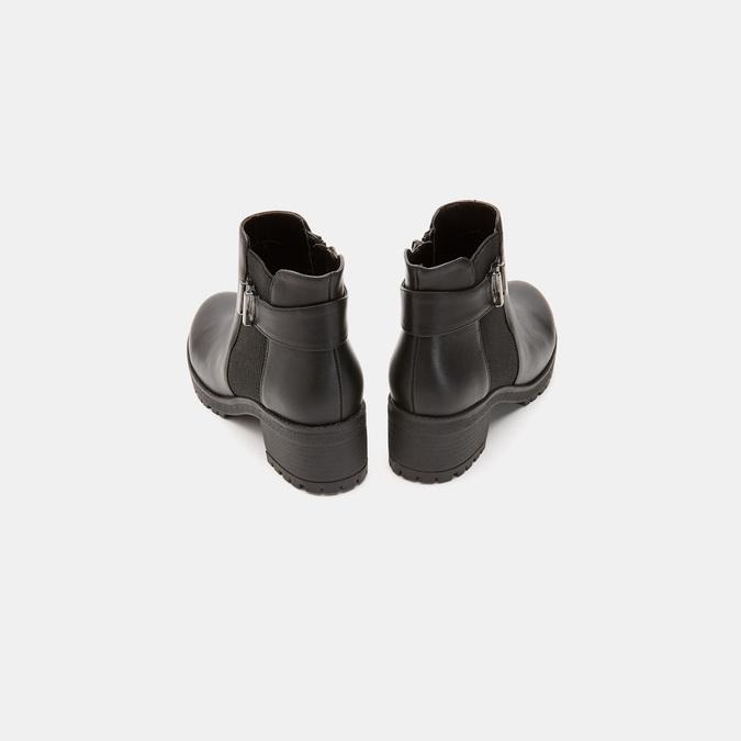 Bottines à talon massif bata, Noir, 691-6150 - 17