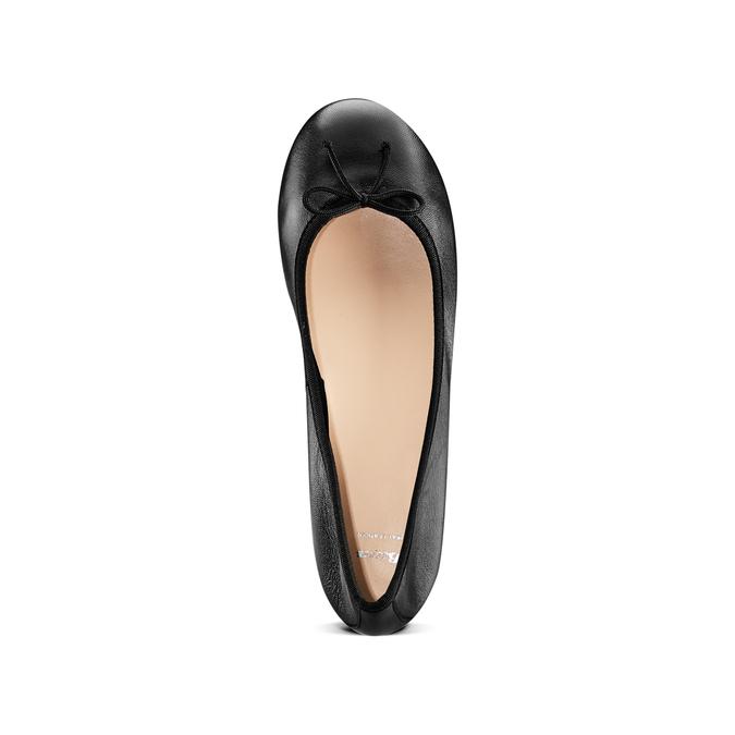 Ballerines en cuir bata, Noir, 524-6144 - 17
