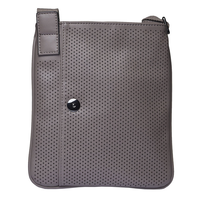Sac Crossbody homme perforé bata, Gris, 961-2739 - 17