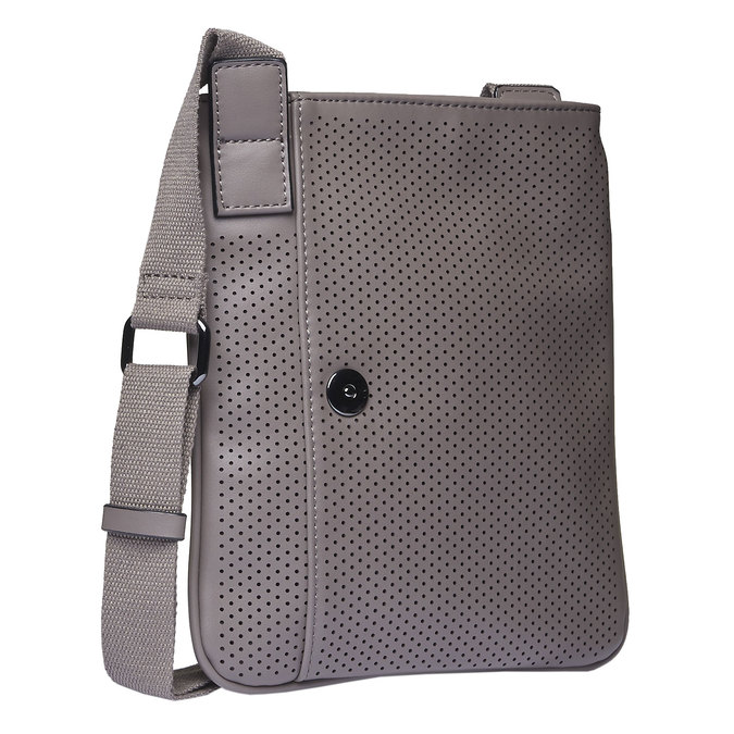 Sac Crossbody homme perforé bata, Gris, 961-2739 - 13