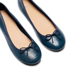 Ballerines en cuir bata, Bleu, 524-9144 - 26