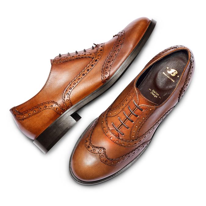 Chaussure en cuir pour femme dans le style Oxford bata, Brun, 524-3214 - 26