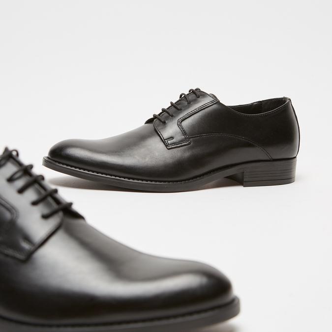 Chaussure lacée Derby en cuir bata, Noir, 824-6874 - 17