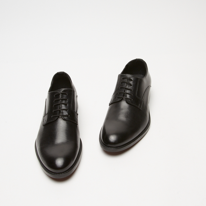 Chaussure lacée Derby en cuir bata, Noir, 824-6874 - 26