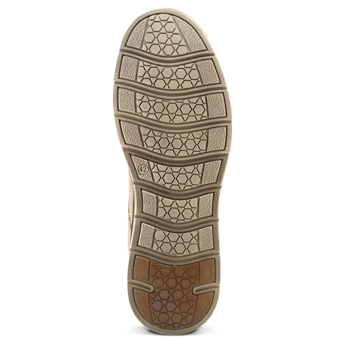 Chaussures lacées en cuir weinbrenner, Jaune, 846-8436 - 17