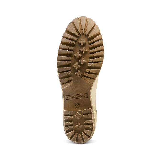 Chaussure d'hiver en cuir avec fausse fourrure weinbrenner, Jaune, 696-8168 - 17