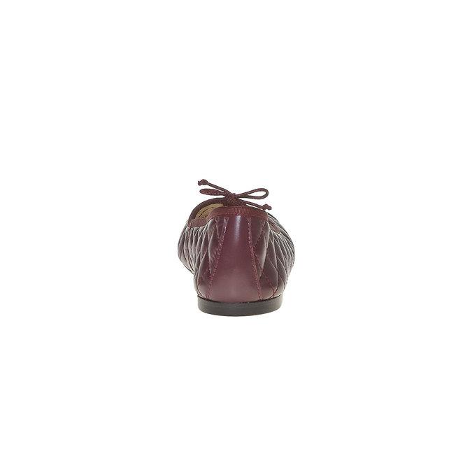 Ballerine en cuir avec surpiqûre bata, Rouge, 524-5431 - 17