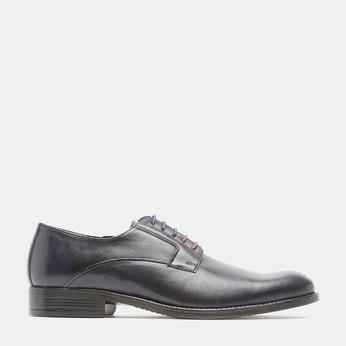 Chaussure lacée Derby en cuir bata, Bleu, 824-9874 - 13