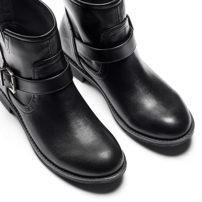 Chaussures motard pour femme bata, Noir, 591-6368 - 17