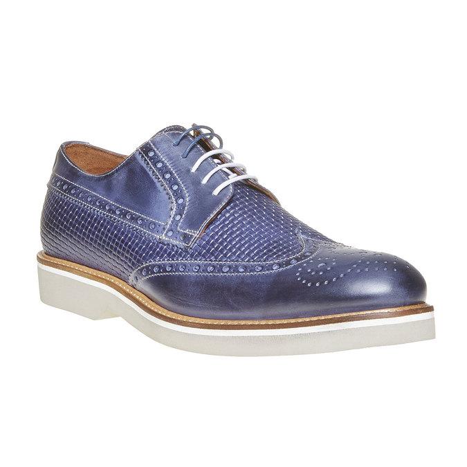 Chaussure lacée en cuir pour homme bata-the-shoemaker, Bleu, 824-9302 - 13