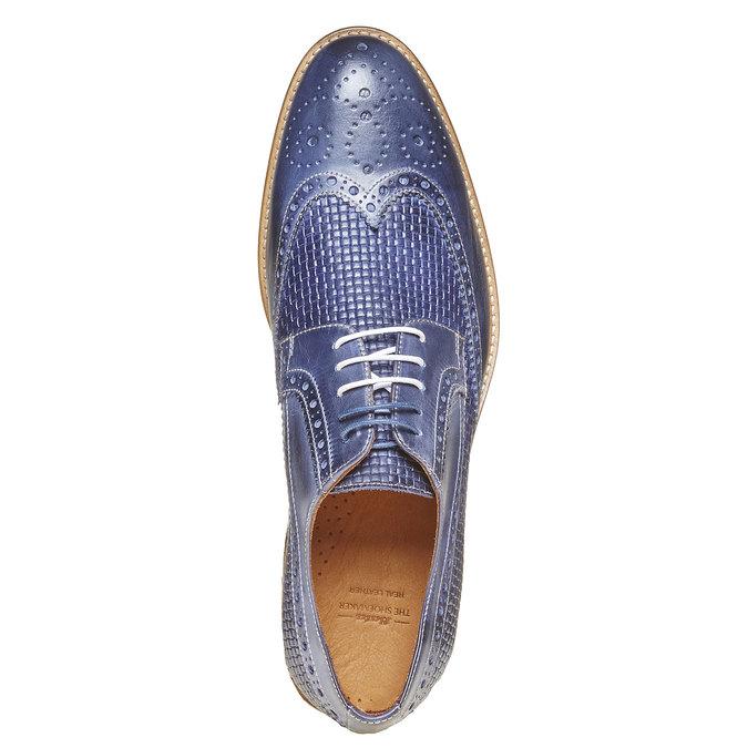 Chaussure lacée en cuir pour homme bata-the-shoemaker, Bleu, 824-9302 - 19