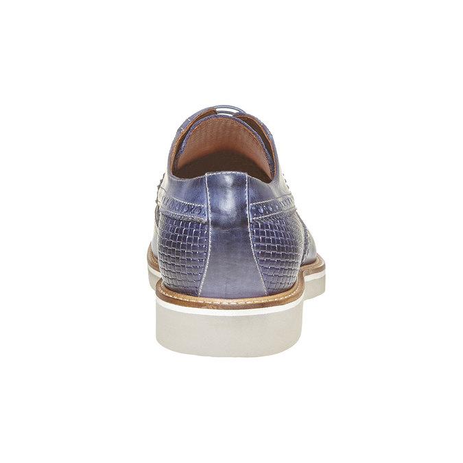 Chaussure lacée en cuir pour homme bata-the-shoemaker, Bleu, 824-9302 - 17