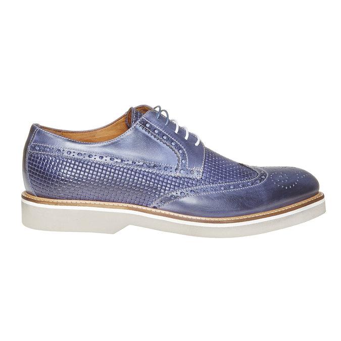 Chaussure lacée en cuir pour homme bata-the-shoemaker, Bleu, 824-9302 - 15