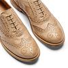 Chaussure lacée fantaisie en cuir pour femme bata, Jaune, 524-8482 - 26