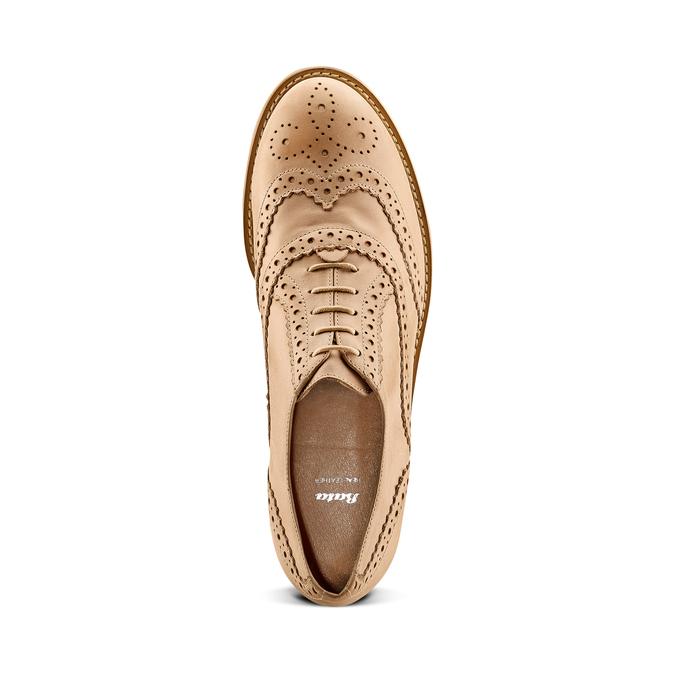 Chaussure lacée fantaisie en cuir pour femme bata, Jaune, 524-8482 - 17