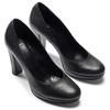 Escarpin noir en cuir à plateforme bata, Noir, 724-6725 - 19