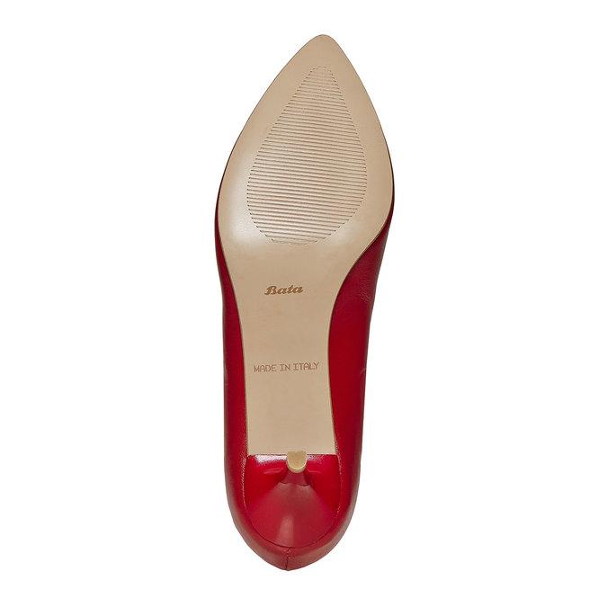 Escarpin rouge en cuir bata, Rouge, 724-5482 - 26