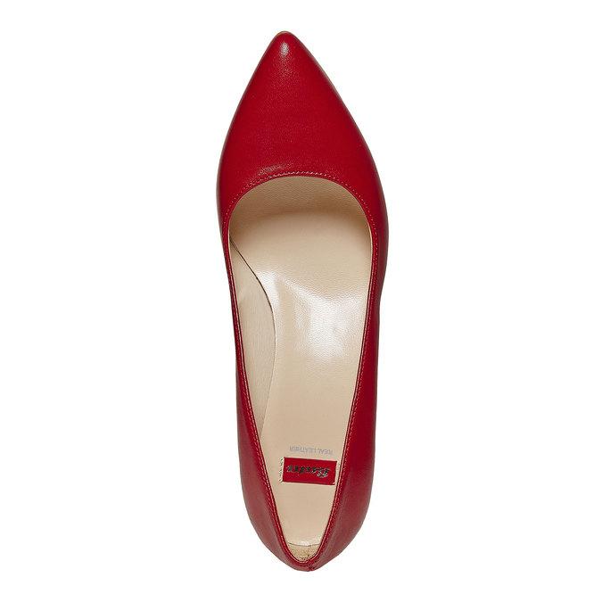 Escarpin rouge en cuir bata, Rouge, 724-5482 - 19
