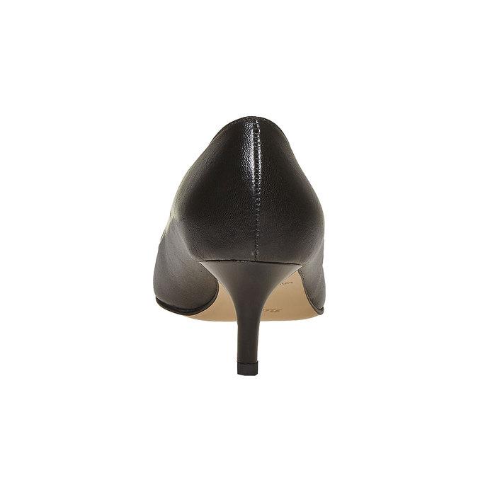 Escarpin noir en cuir bata, Noir, 724-6482 - 17