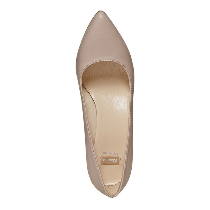 Escarpin pointu en cuir bata, multi couleur, 724-0482 - 19