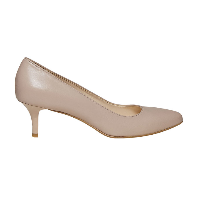 Escarpin pointu en cuir bata, multi couleur, 724-0482 - 15