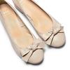 Ballerine en cuir à nœud bata, Jaune, 524-8420 - 26