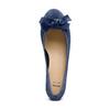 Ballerine en cuir à nœud bata, Bleu, 523-9420 - 17