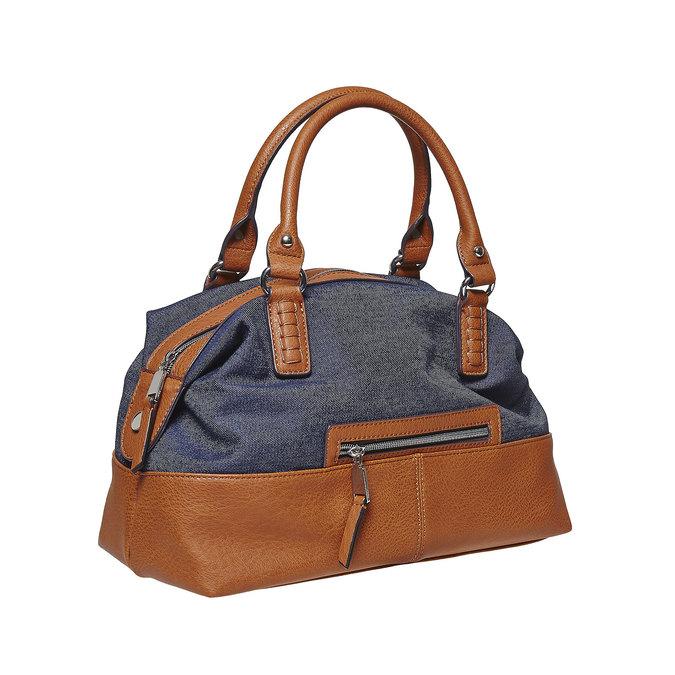 Grand sac à main femme bata, Bleu, 969-9354 - 13