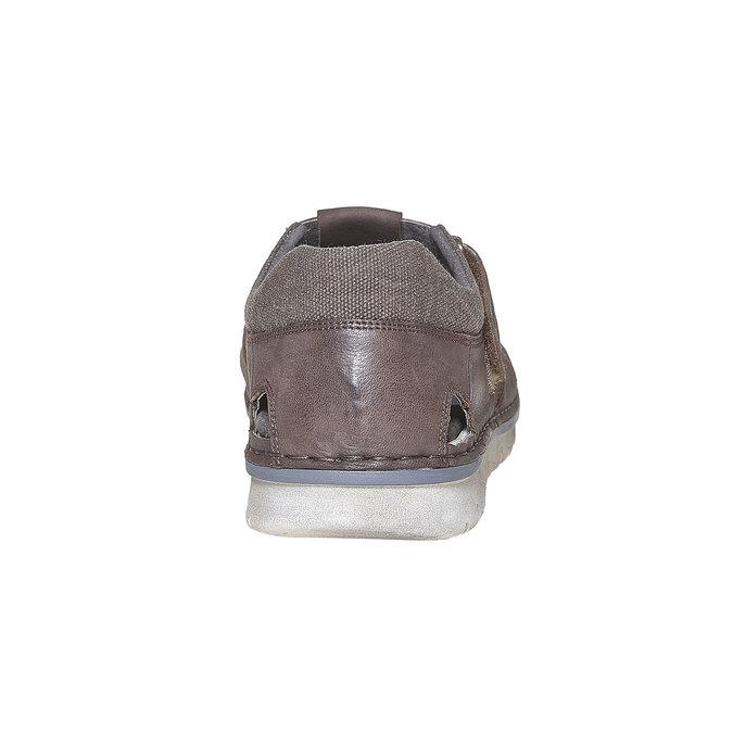 Sandale en cuir à semelle épaisse weinbrenner, Brun, 864-4267 - 17