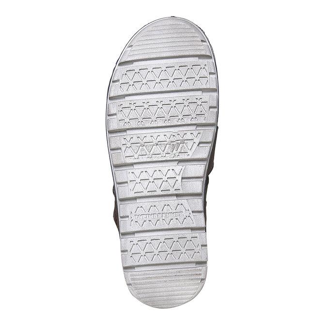 Sandale en cuir à semelle épaisse weinbrenner, Brun, 864-4267 - 26