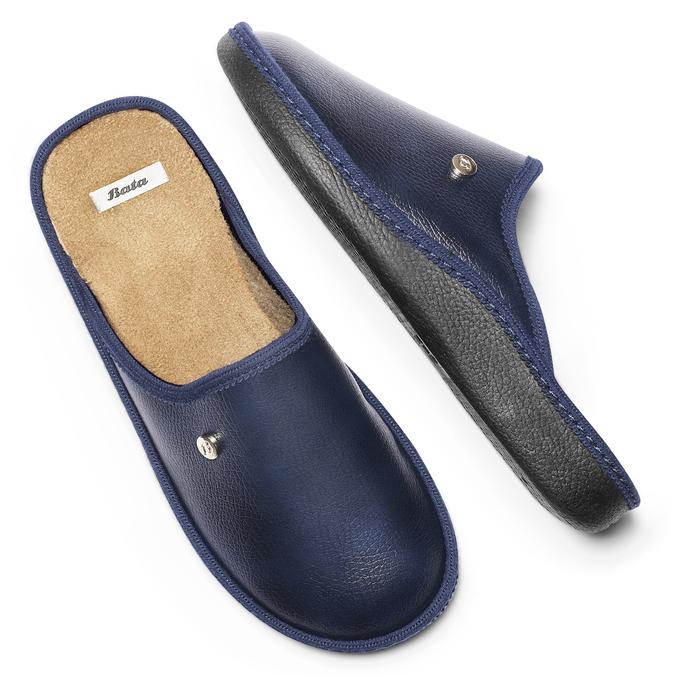 Chaussons bata, Noir, Bleu, 871-9304 - 19