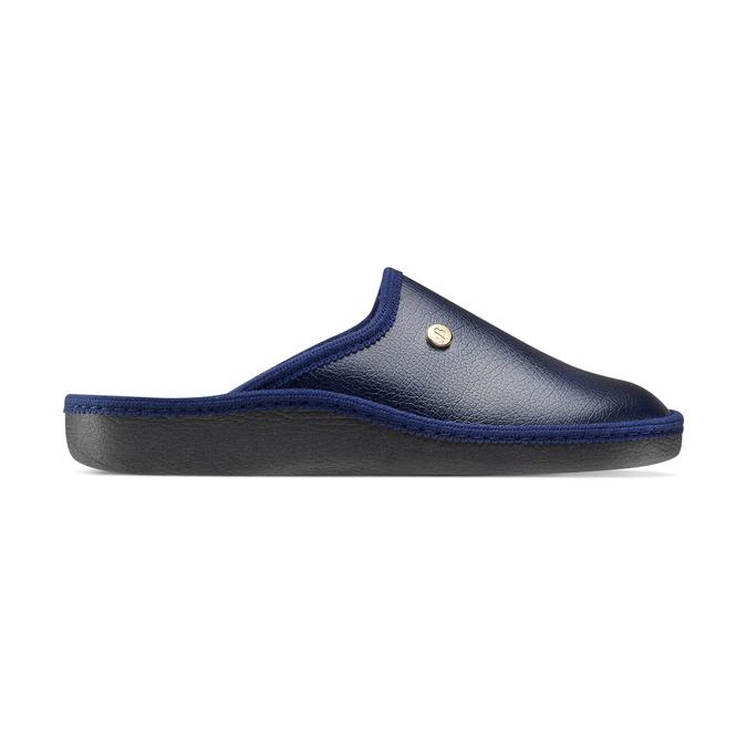 Chaussons bata, Noir, Bleu, 871-9304 - 26