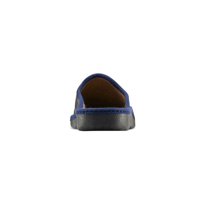 Chaussons bata, Noir, Bleu, 871-9304 - 16