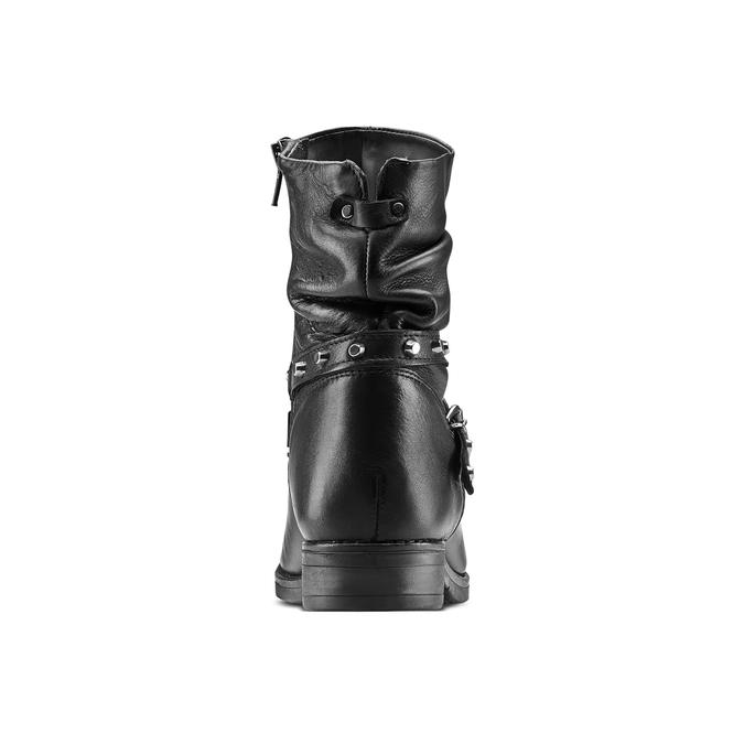 Botte à lanière en cuir bata, Noir, 594-6201 - 16