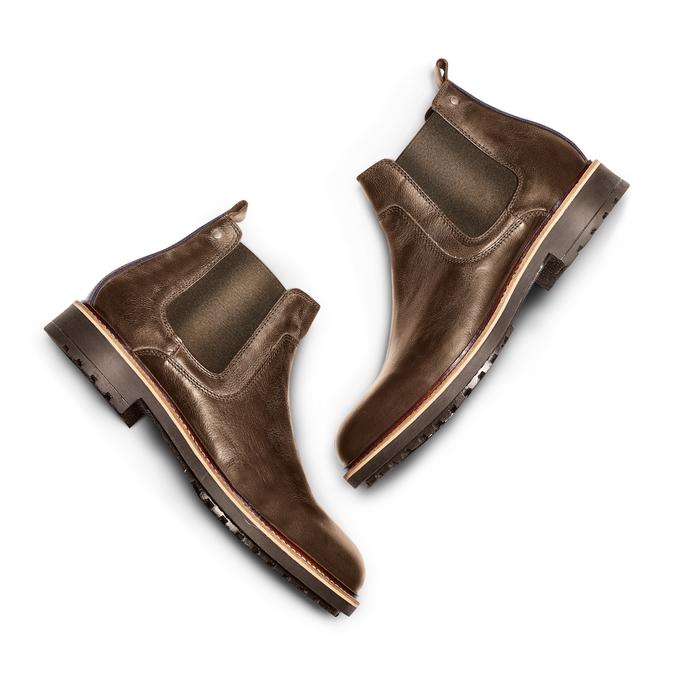Men's shoes bata, Brun, 894-4736 - 26