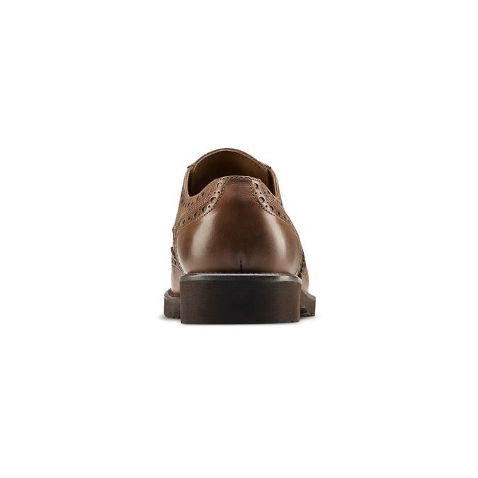 Derbies en cuir bata-light, Brun, 824-4399 - 16