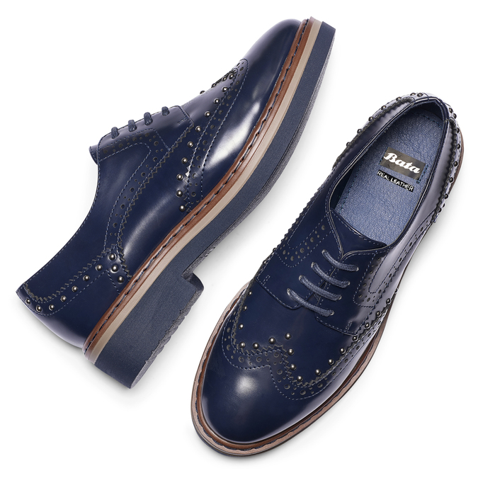 Women's shoes bata, Bleu, 521-9657 - 19