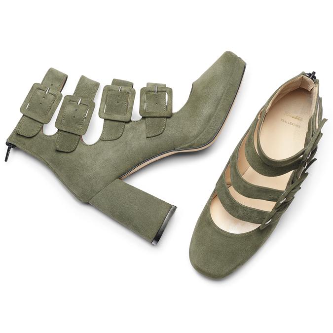 Women's shoes bata, Vert, 723-7984 - 19
