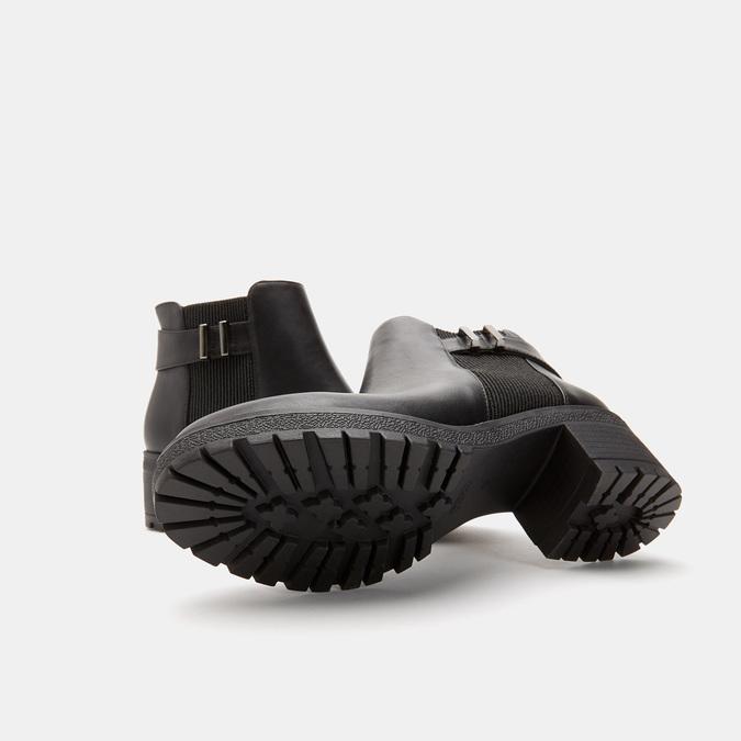 Bottines à talon massif bata, Noir, 691-6150 - 16