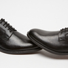 Chaussure lacée Derby en cuir bata, Noir, 824-6874 - 16