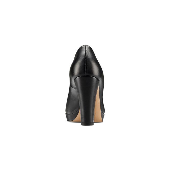 Escarpin noir en cuir à plateforme bata, Noir, 724-6725 - 16