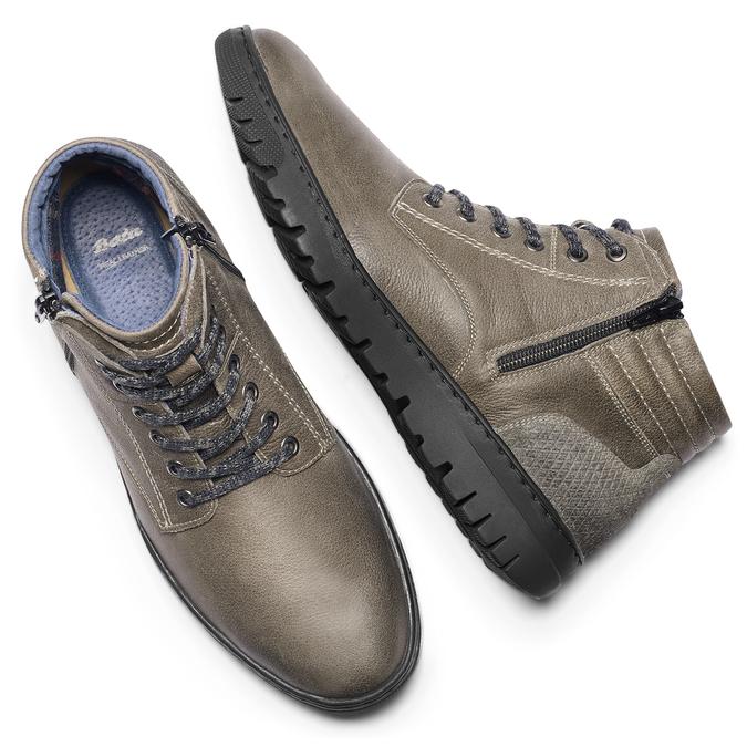 Men's shoes bata, Gris, 894-2719 - 19