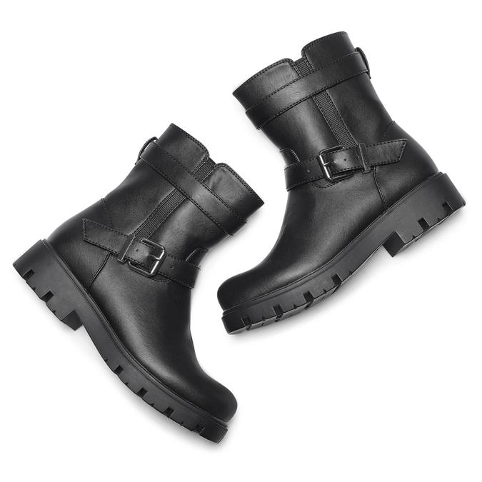 Childrens shoes mini-b, Noir, 391-6408 - 19