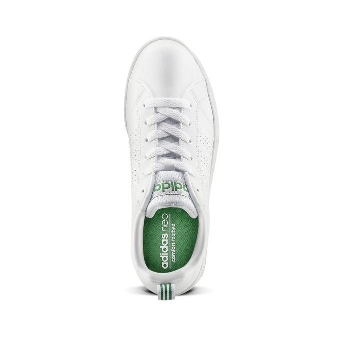 Basket blanche avec détails verts adidas, Blanc, 501-1300 - 15
