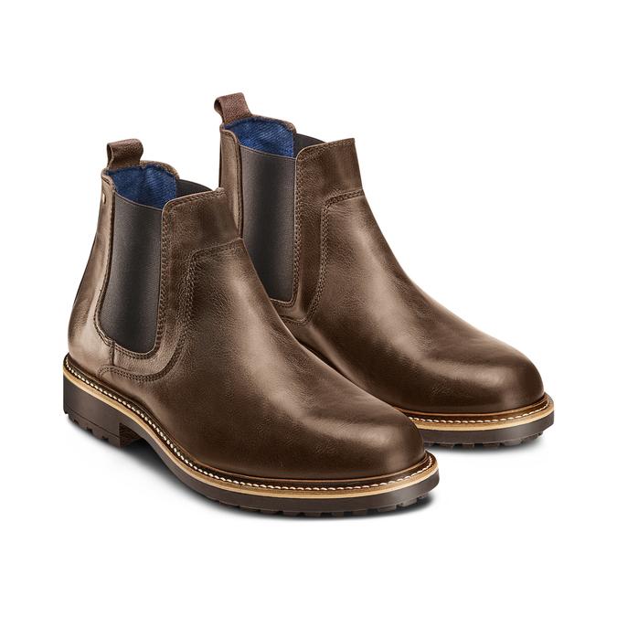 Men's shoes bata, Brun, 894-4736 - 16