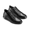 Tennis en cuir noir flexible, Noir, 844-6205 - 16