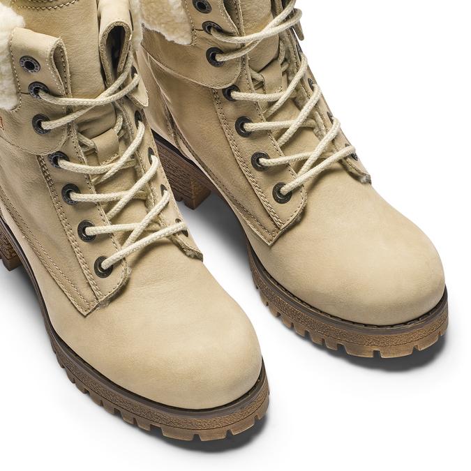 Chaussure d'hiver en cuir avec fausse fourrure weinbrenner, Jaune, 696-8168 - 15