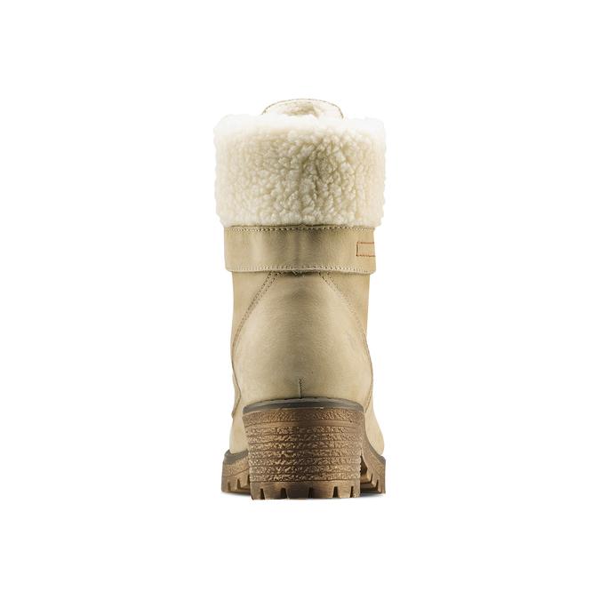 Chaussure d'hiver en cuir avec fausse fourrure weinbrenner, Jaune, 696-8168 - 16